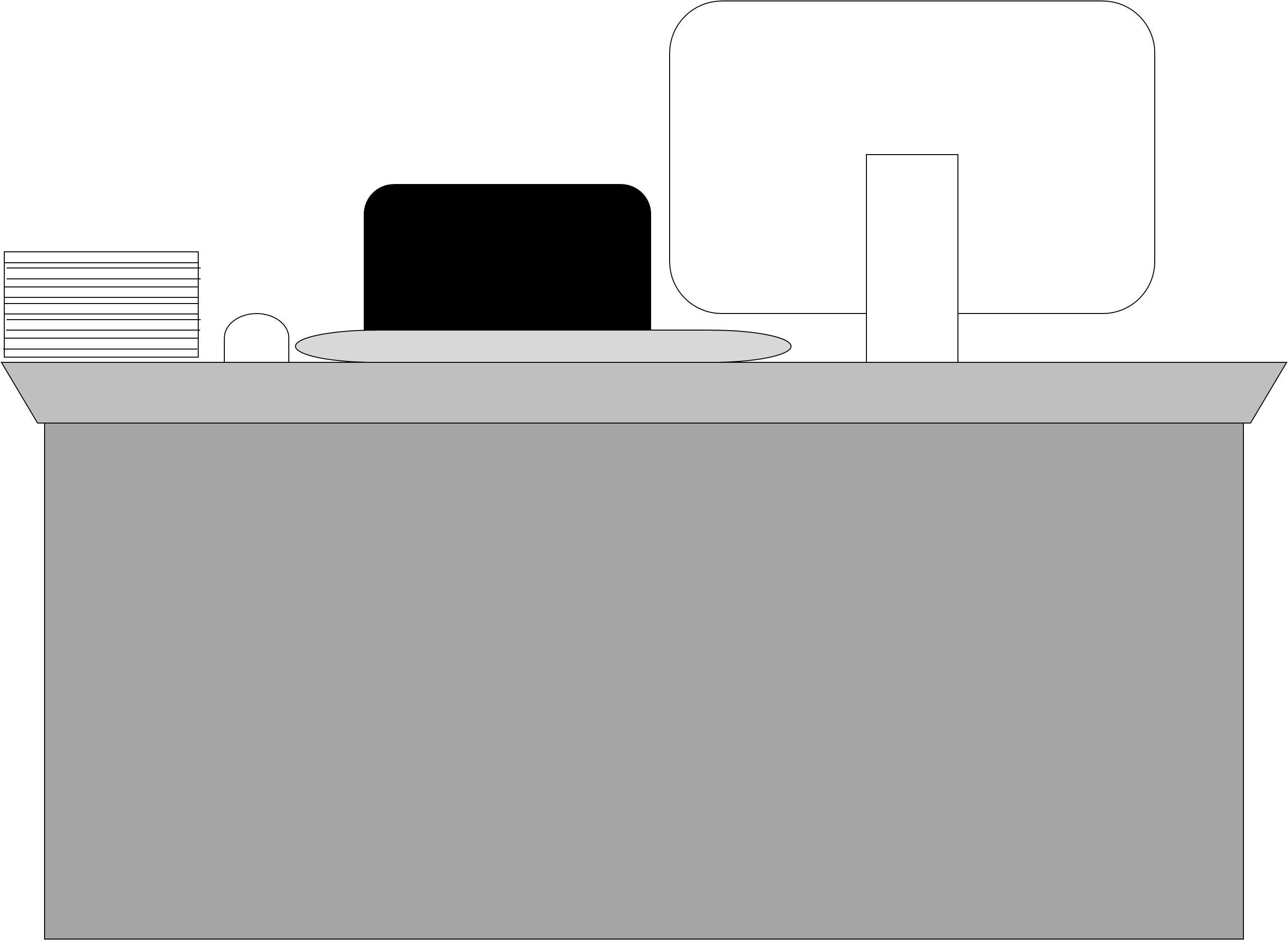 Free Office Desk Clipart Black And White, Download Free Clip.