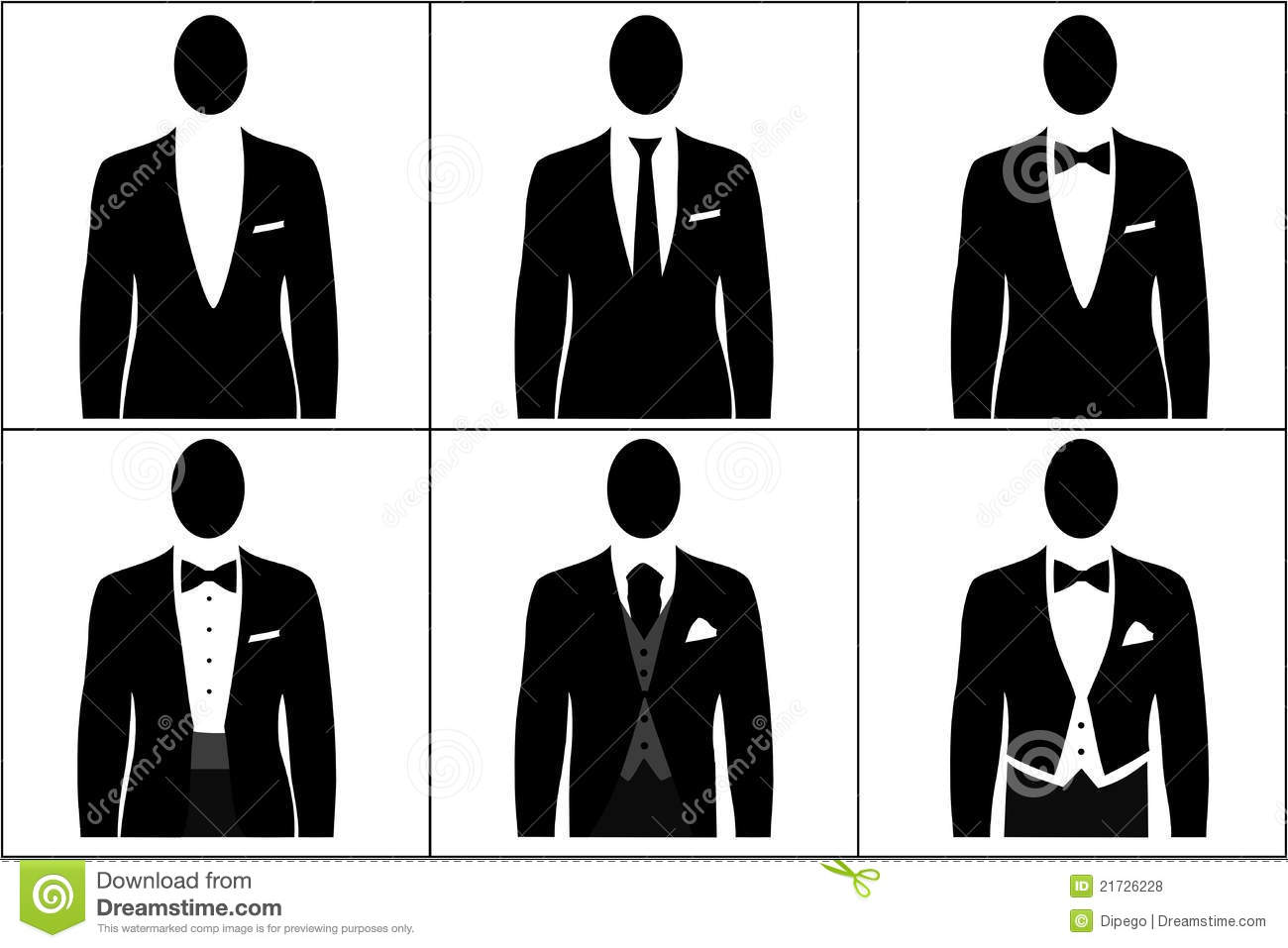 Male Dress Code Clipart.