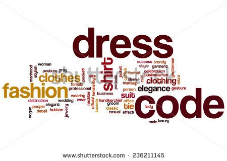 Dress code clipart.