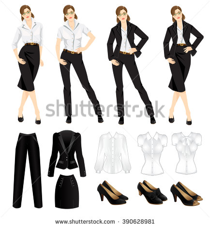 Girl Dress Code Clipart.