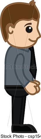 Clip Art Vector of Office Employee.
