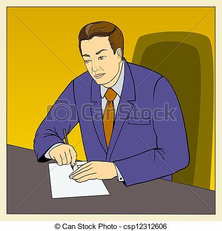Vector Clipart of employee.