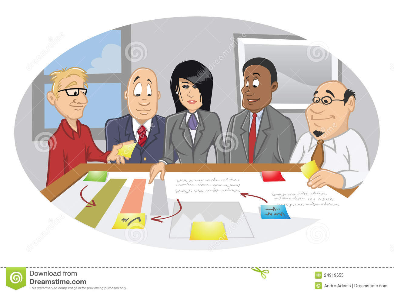 Office Employee Brainstorming Session Royalty Free Stock Photo.