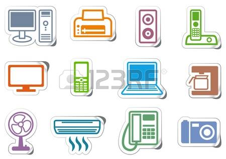 7,020 Office Or Home Equipment Stock Vector Illustration And.