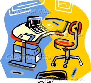 office equipment Vector Clip art.