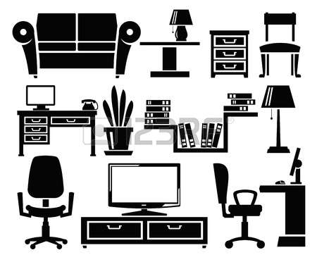 30369 Office Furniture Stock Vector Illustration And Royalty Free