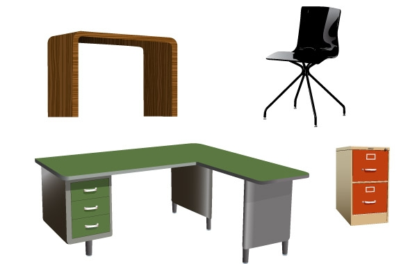 Office furniture clipart.