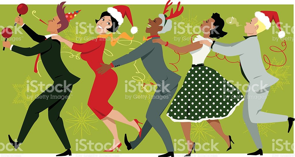 Free Office Christmas Party Clipart.