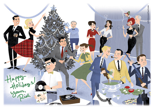 Office Holiday Party Clip Art.