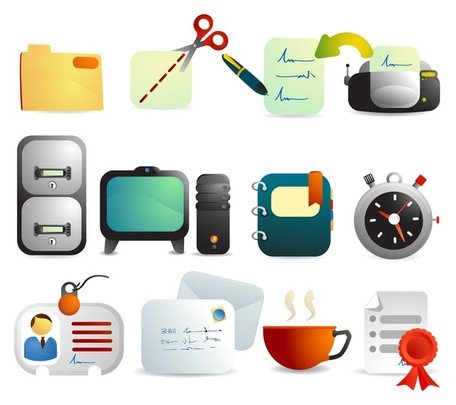 office icon Clipart Picture Free Download.
