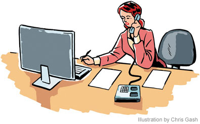Office job clipart.