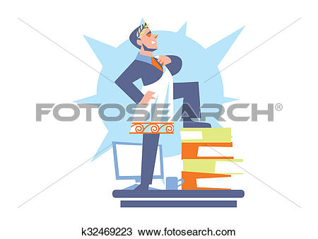 Drawing of Abstract business concept of office life k32469223.