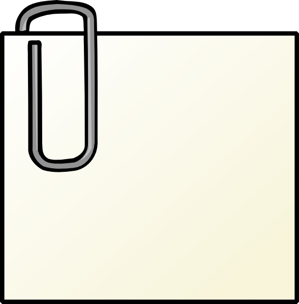 Note With Paperclip clip art Free vector in Open office.