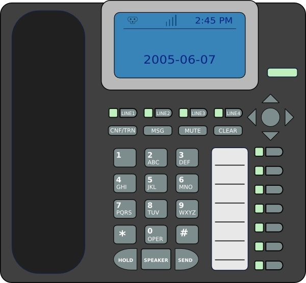 Ip Phone clip art Free vector in Open office drawing svg ( .svg.