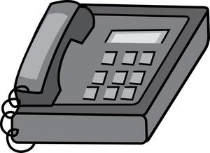 Desk Phone Clipart Image.