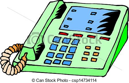 Office Phone Clipart.