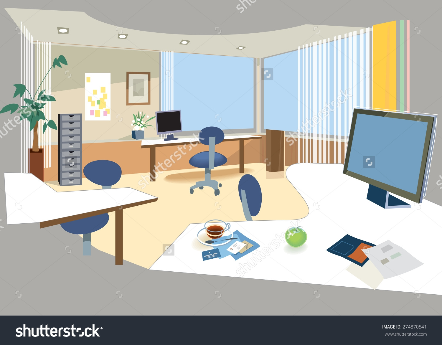 Office Room Clipart.