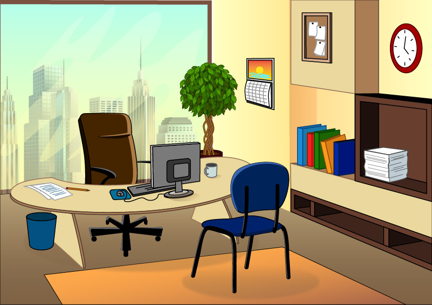 Office Clipart Background.
