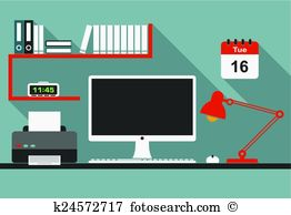 Office space Clipart and Illustration. 43,749 office space clip.