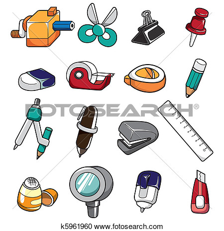 Clipart images of stationery.
