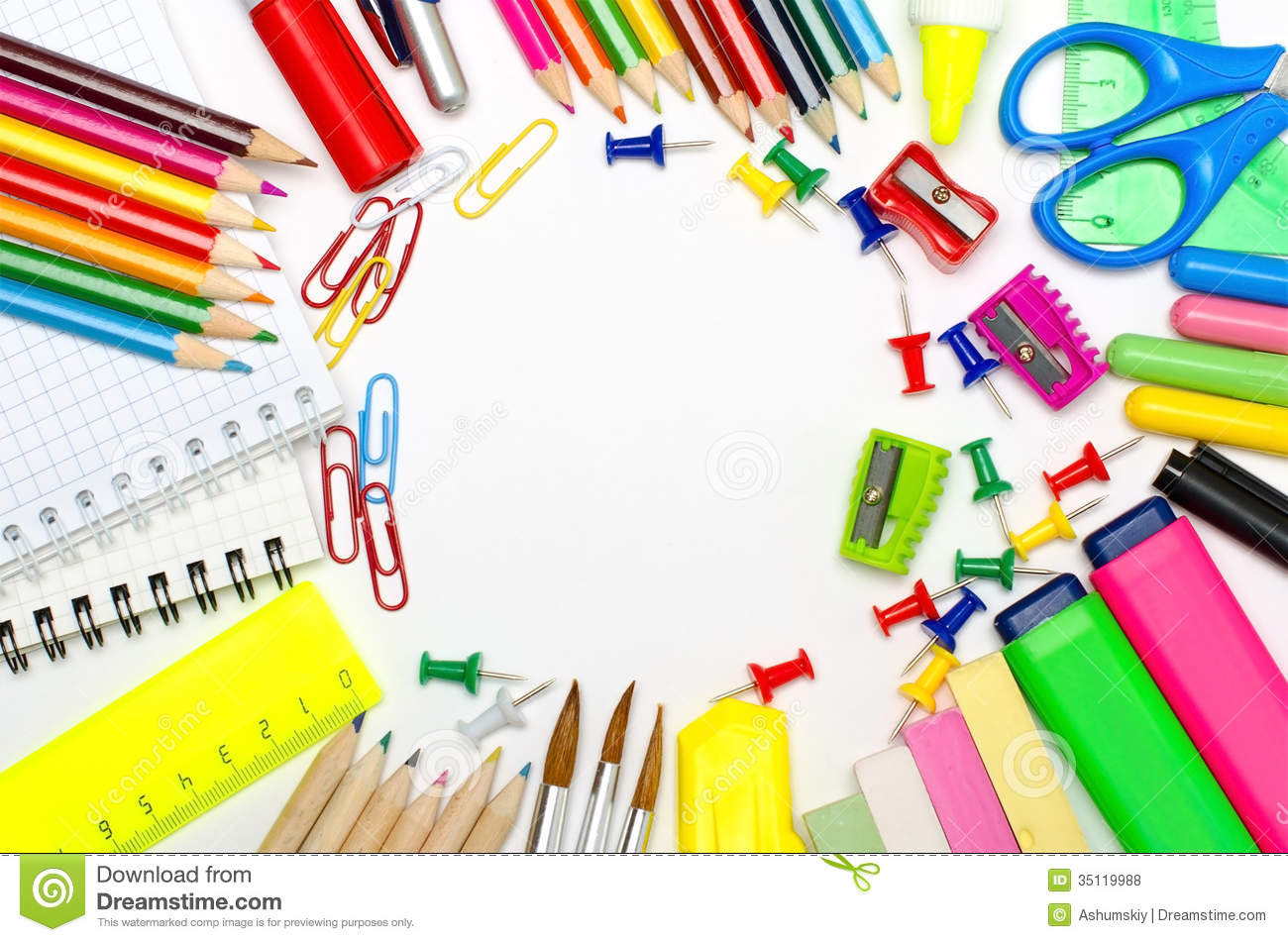 Stationery clipart free.