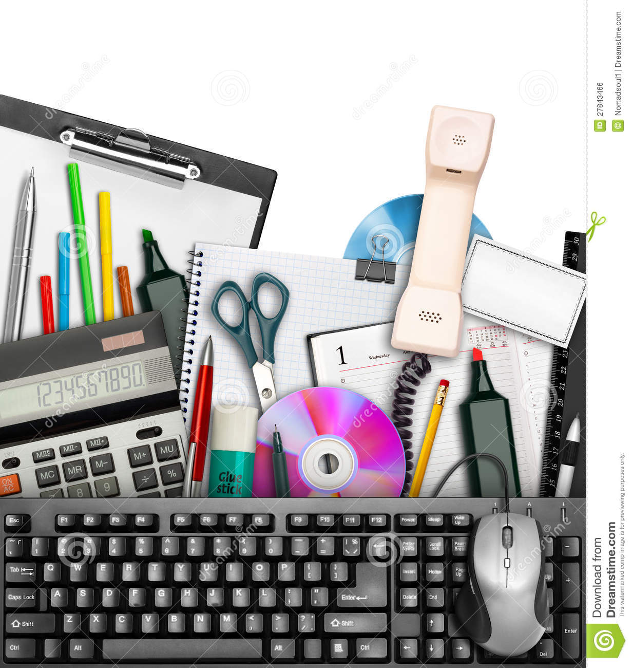 Office Stationery Royalty Free Stock Image.
