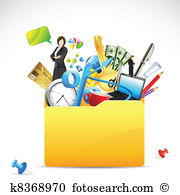 Office stationery Clipart and Illustration. 17,827 office.
