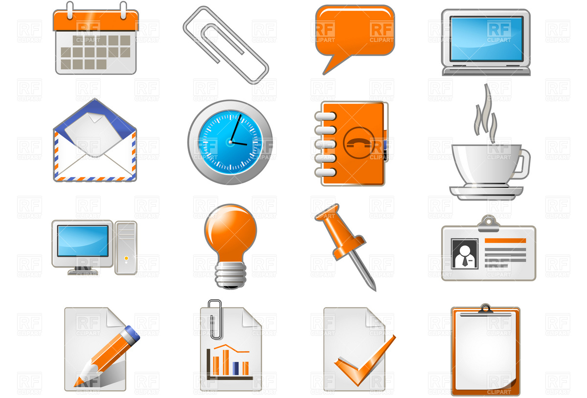 Stationery and office icons Vector Image #4661.