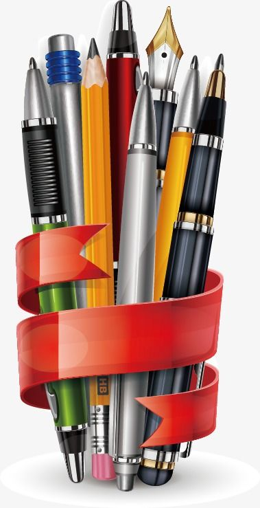 Stationery Vector Material, Stationery, School Supplies, Pen.