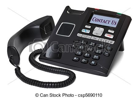 Stock Illustration of Office telephone Contact Us isolated on.