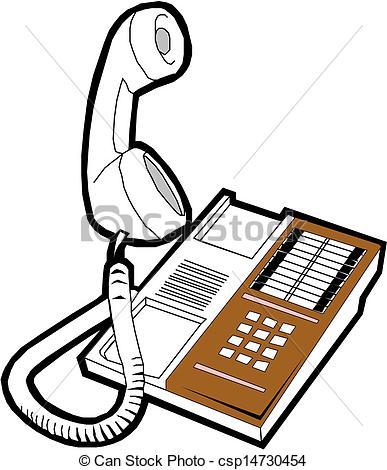 Vector Clip Art of Office phone csp14734114.