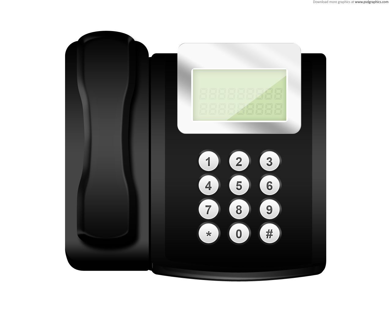 Free Office Phone Clipart Image.