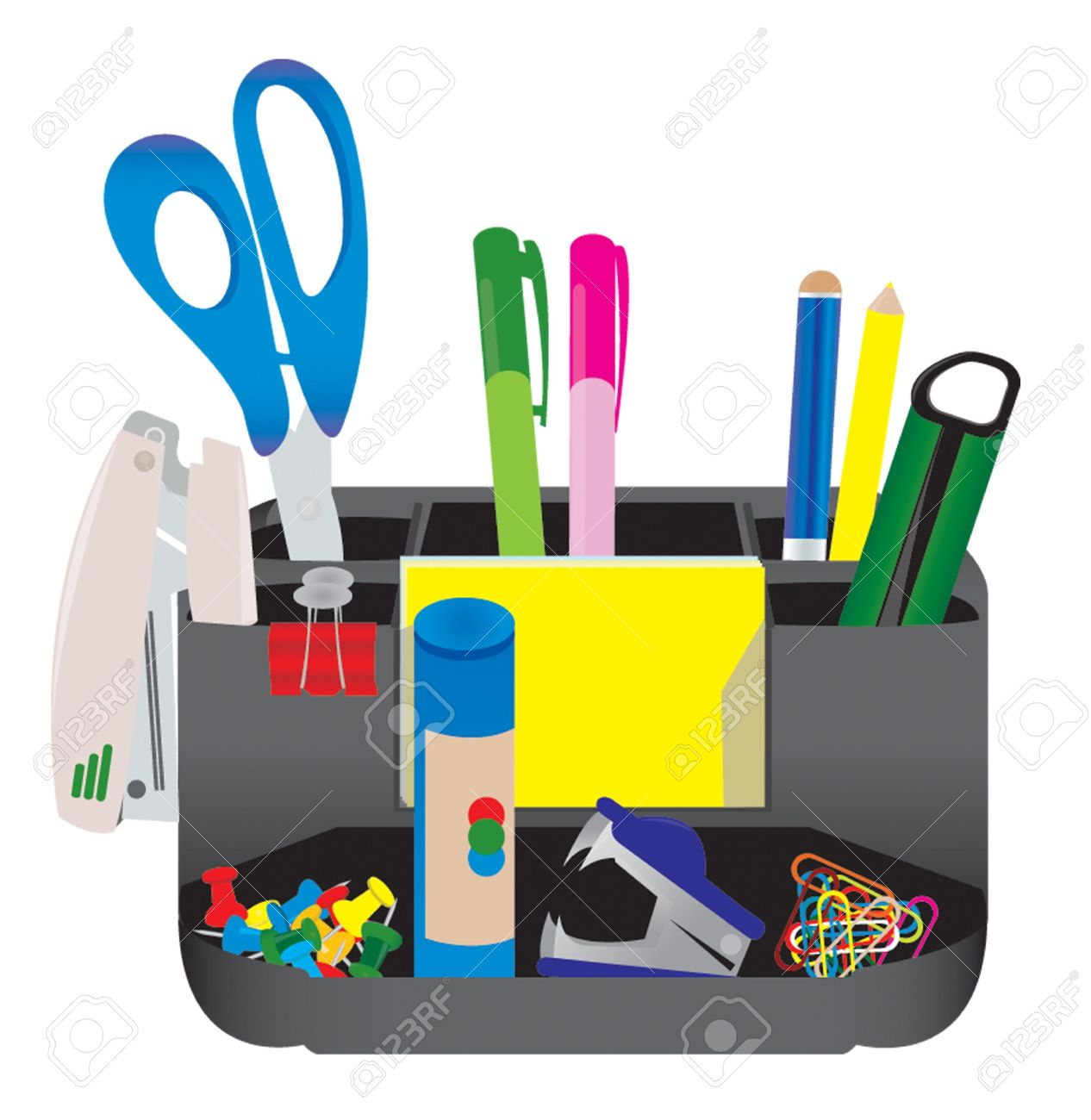Office Tools Royalty Free Cliparts, Vectors, And Stock.