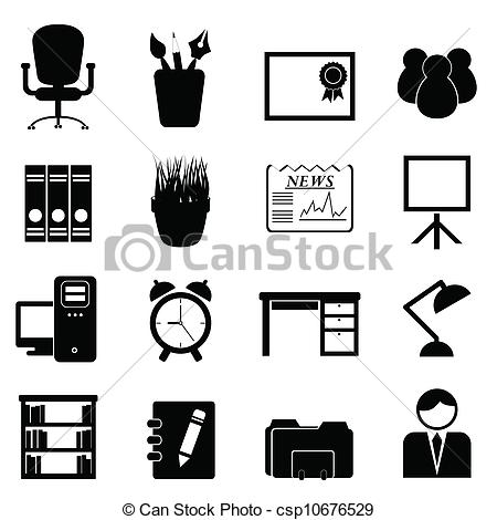 Clip Art Office Tools Clipart.