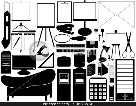 office tools stock vector.