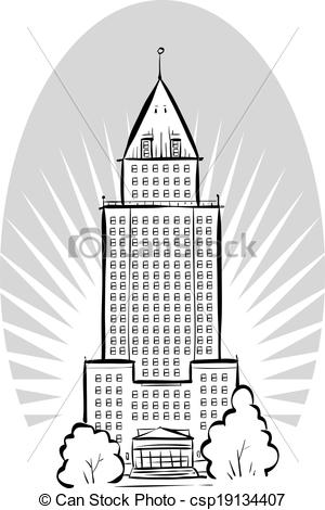 Vector Clipart of Office Tower.