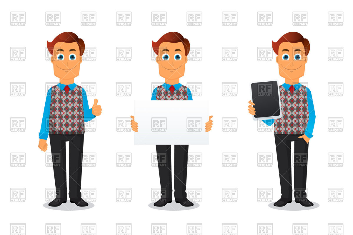 Businessman or office worker in cartoon style Vector Image #57826.