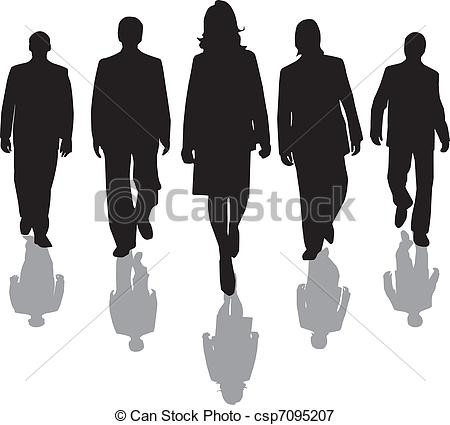 Vectors Illustration of workers silhouette.