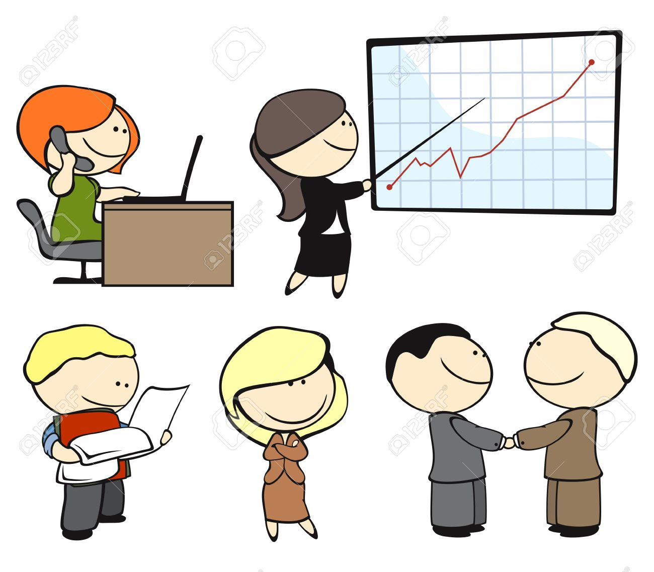 Showing post & media for Cartoon office clip art free.