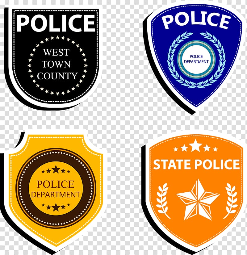 Badge Police officer Logo, Police badge collection.