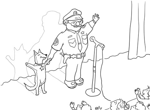 Officer Buckle and Gloria Taking a Bow coloring page.