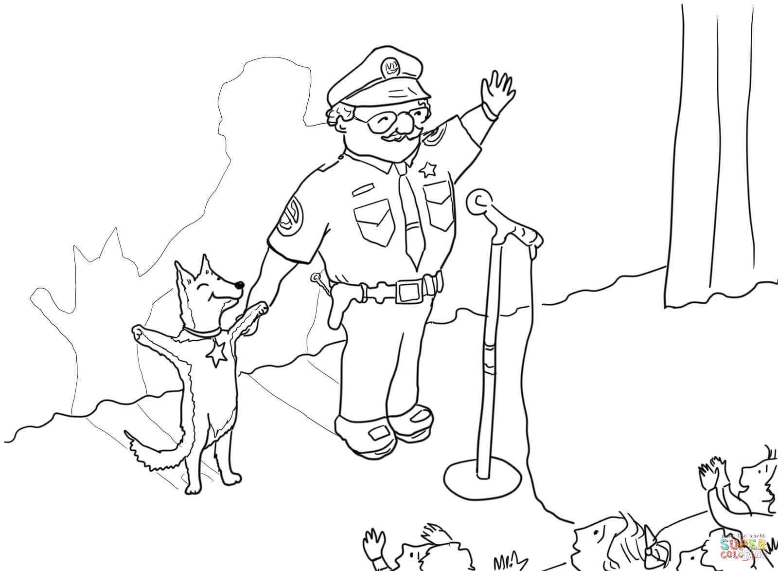 Officer Buckle And Gloria Coloring Page.