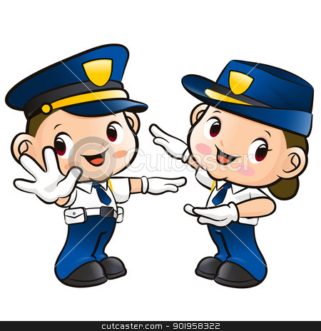 Friendly Police Officer Clipart.