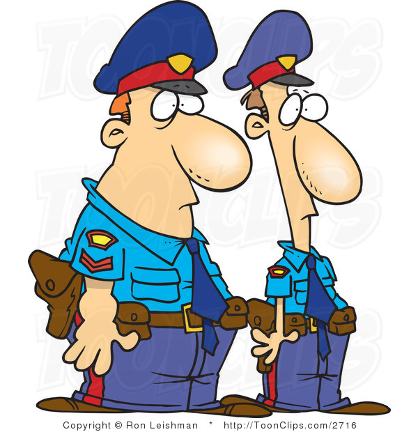 Police officers clipart.