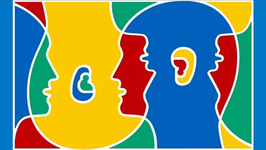 Language clipart four person, Language four person.