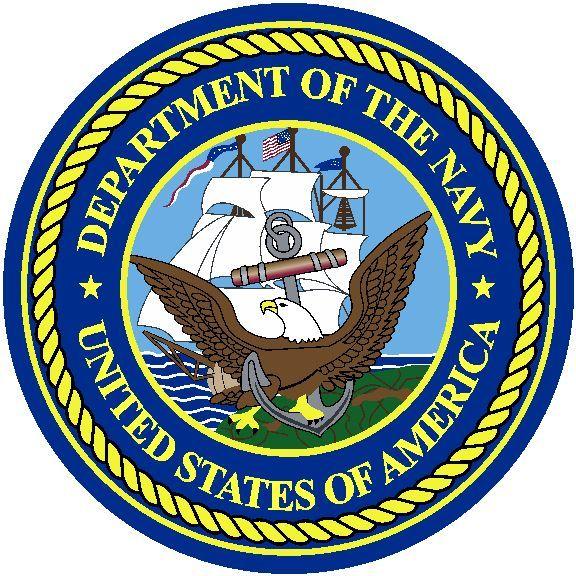 U.S. Navy Round Logo Rug.
