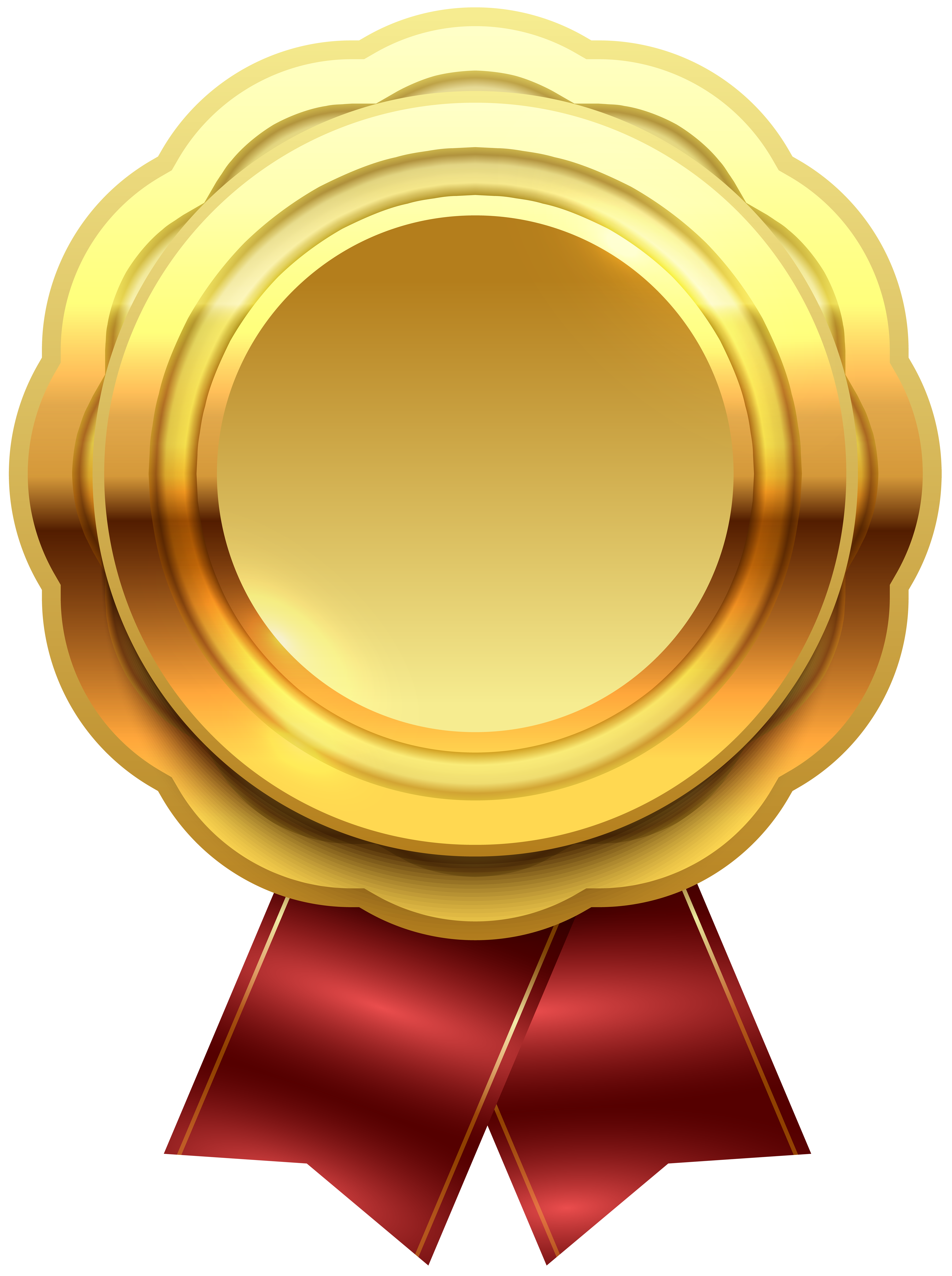 Gold Seal Clip Art PNG Image.