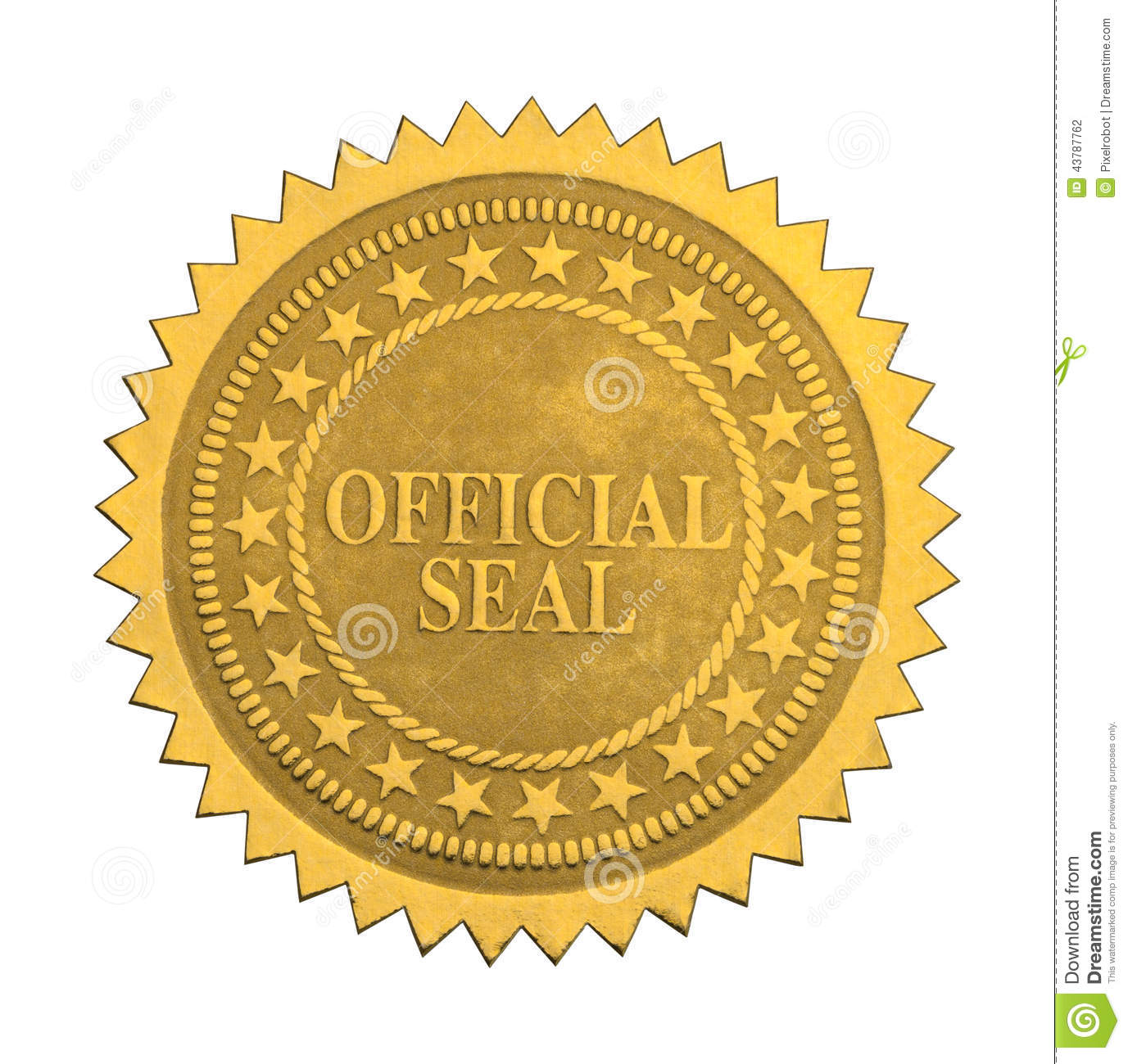 Official Seal Clipart.