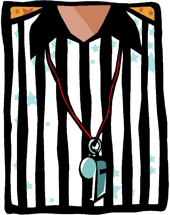 Game Over Referee Clipart.
