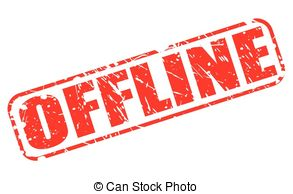 Vector of offline red grunge stamp csp41660789.